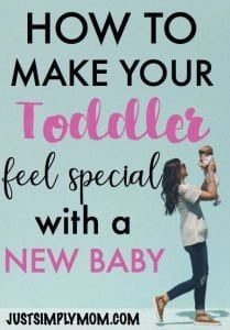If you just had your second baby and your toddler is feeling a jealous, that is totally normal. Your family has changed for them and they may need the reassurance that mom and dad didn't find a new favorite. Follow these tips for simple ways to make your first baby still feel special and give them attention while you're busy with your newborn baby.