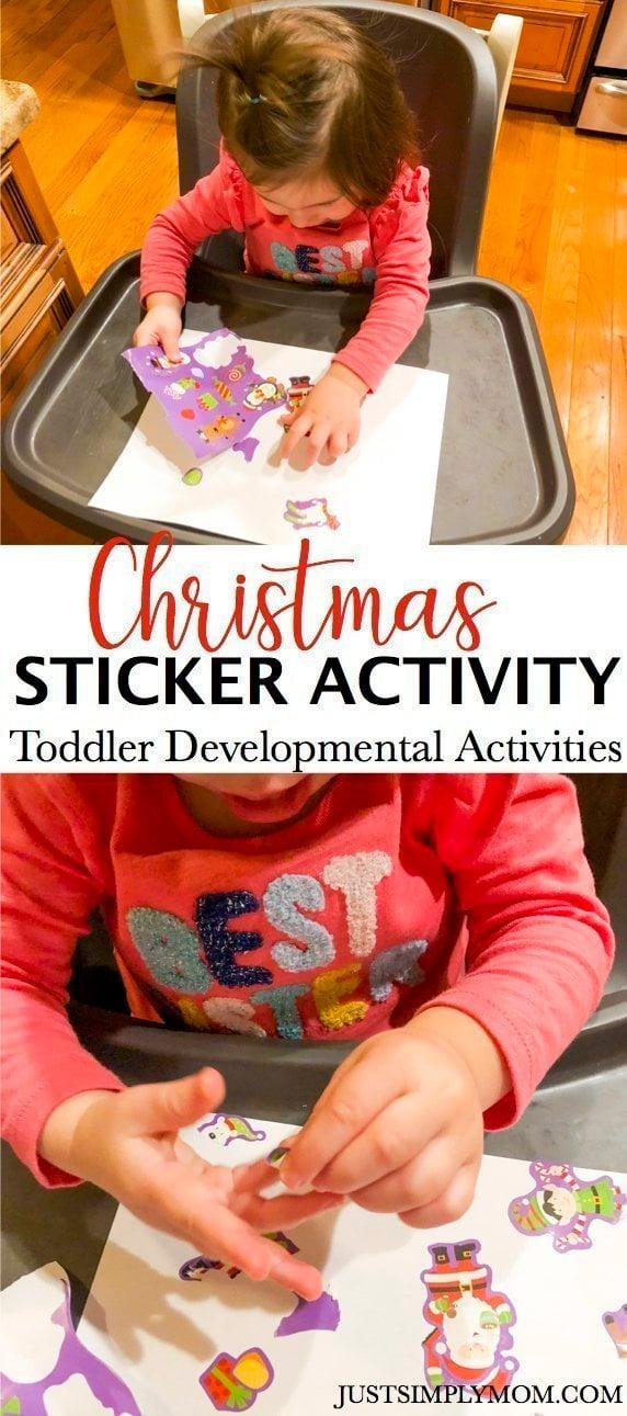 Christmas Sticker Toddler Activity