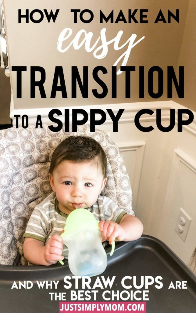 Going from a baby bottle to a sippy cup can be a tough transition for your infant, but here are some tips to make it easier and why I prefer straw cups as baby's first cup.
