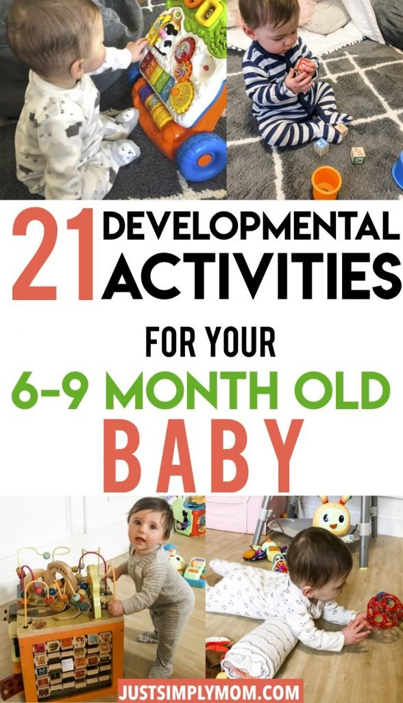 Your 6 to 9 month old baby is making drastic advancements in their development daily. In this age range they will master sitting, crawling, and even saying their first words. If you feel like you're not providing them with enough developmental stimulation, here are some activity ideas for your 6-9 month old baby. Through these activities, they will improve play skills in fine motor, cognitive, problem solving, and language.