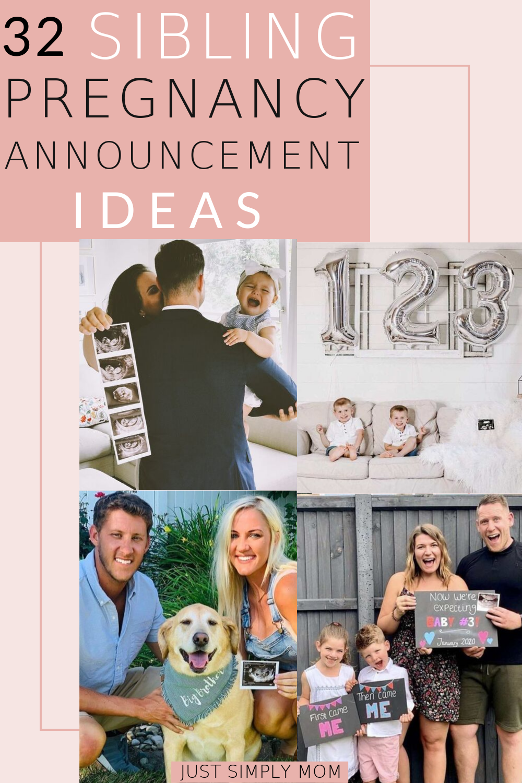32 Sibling Pregnancy Announcement Ideas
