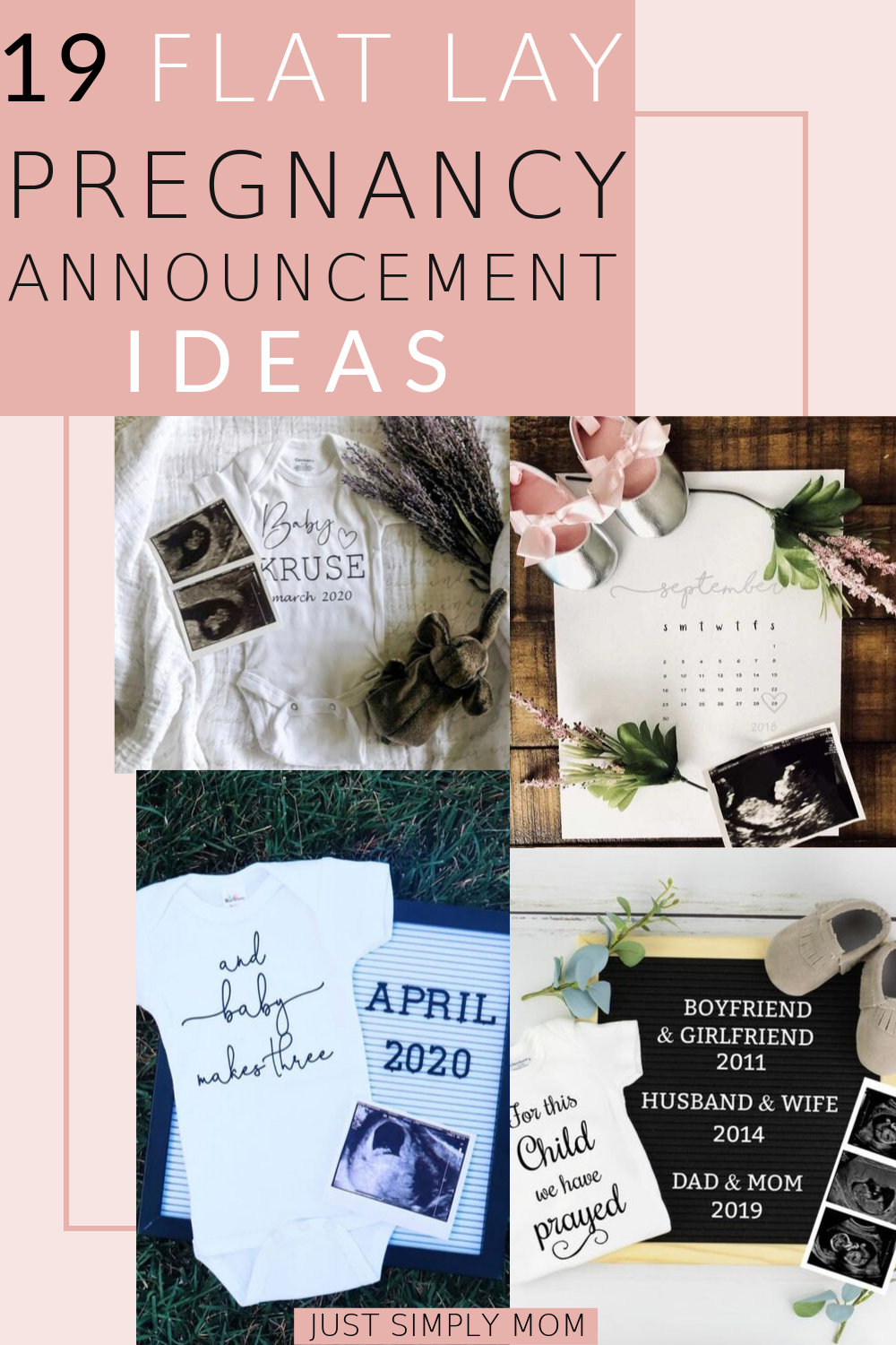 19 Beautiful Flat Lay Pregnancy Announcements
