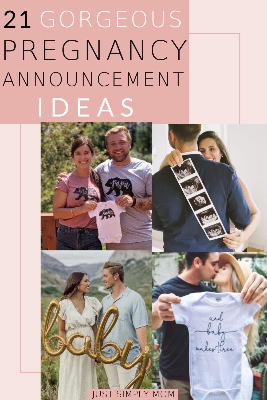 21 Gorgeous and Unique Pregnancy Announcement Ideas