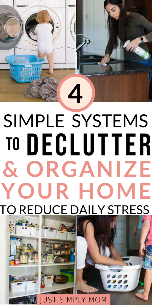Organize and declutter your house to make life as a busy mom less stressful. Have the kids help out to lessen the load of cleaning your whole home.