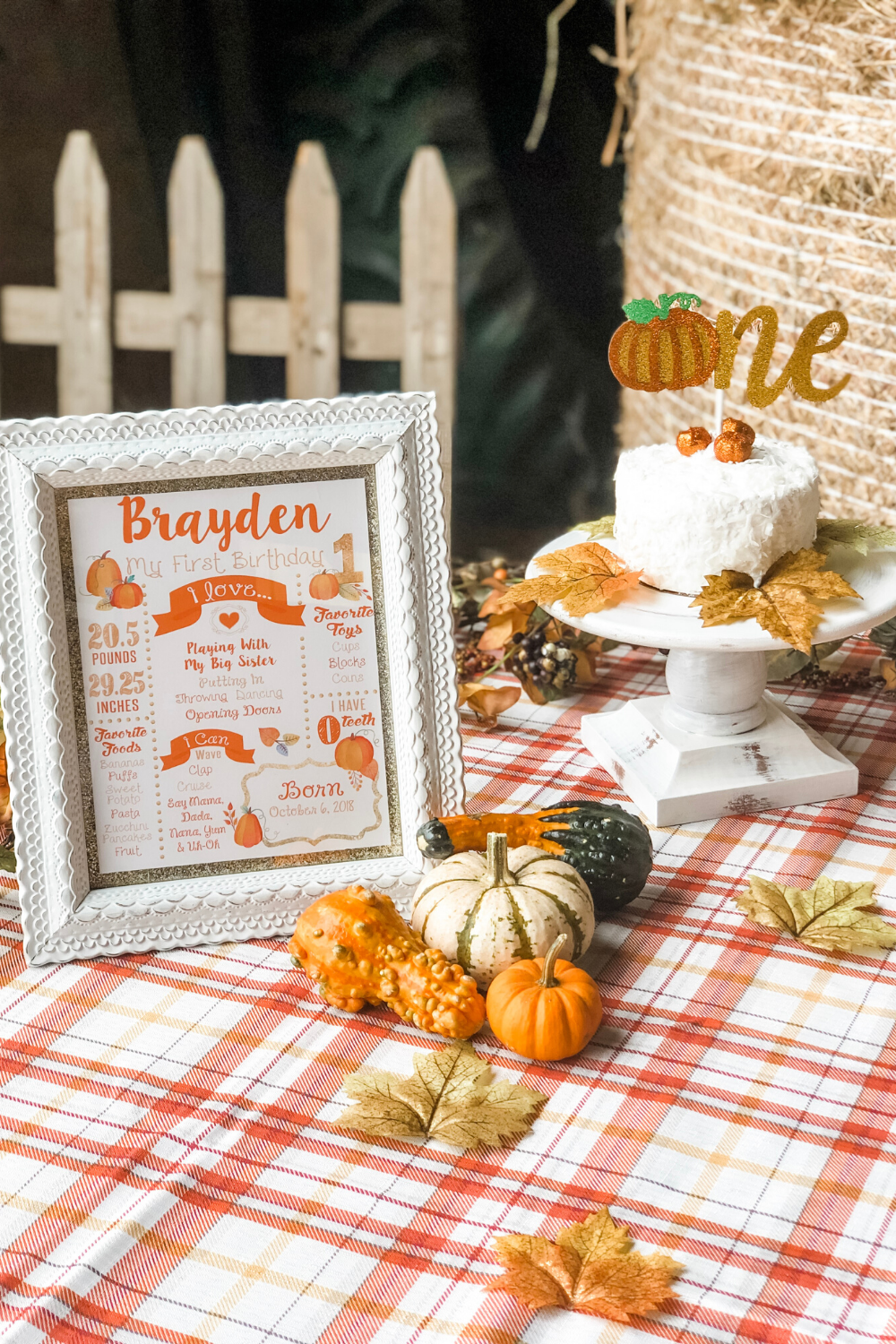 Pumpkin Patch Birthday Bash for a Fall-Themed 1st Birthday Party