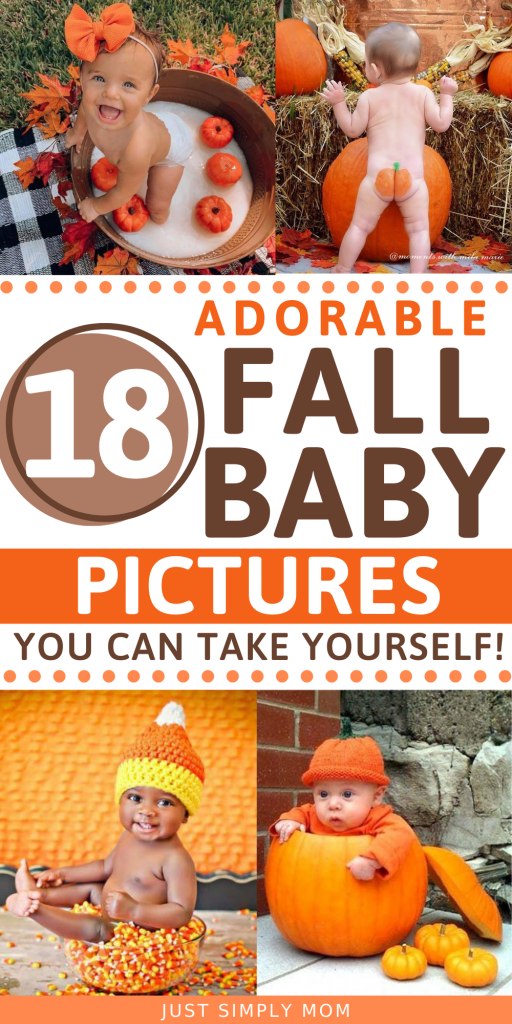 Take these DIY adorable fall baby pictures of your little one as the seasons change. Use all the seasonal items like pumpkins & leaves to create gorgeous professional looking photos