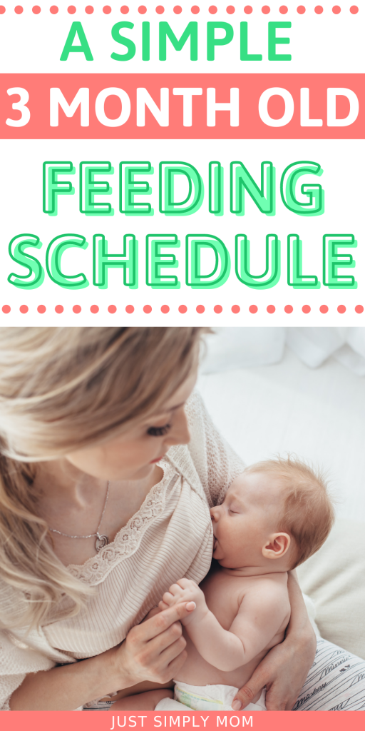 Use this 3 month old feeding schedule to get your baby on a daily routine for eating and sleeping consistently morning and night.