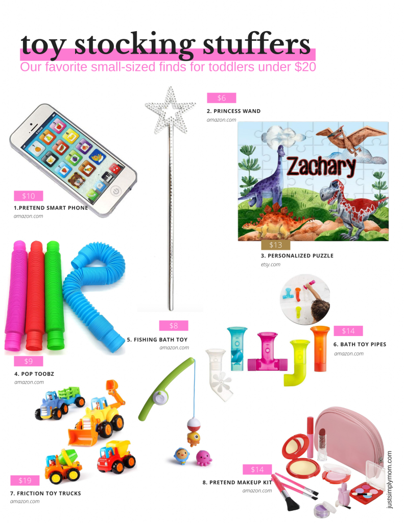 Need ideas for toddler stocking stuffers for this Christmas 2020? Here are some educational, creative, wearable, and toy ideas that kids love