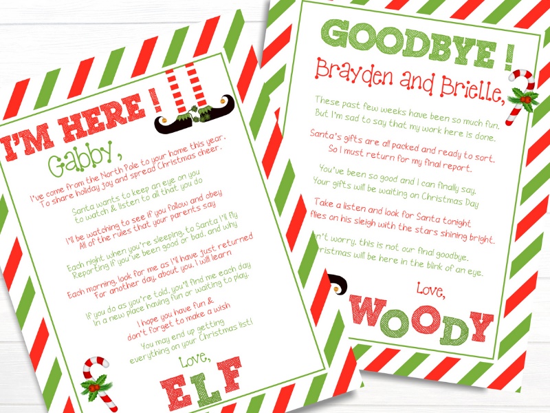 Here you will find a few versions of a FREE Elf on the Shelf Welcome Letter that your little ones will love. Use this so you don't have to do the work!