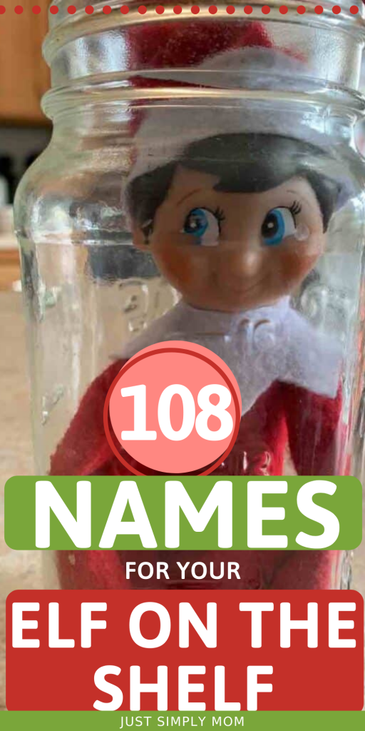 Here is the ultimate list of Elf on the Shelf Names for your child to choose from when picking a name for their elf during Christmas
