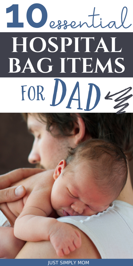 Tips for how to pack a hospital bag for dad before labor and delivery and how this will support mom during childbirth.