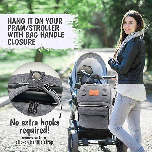 KeaBabies diaper bag backpack is the best baby diaper bag for moms & dads. This review shows the ease, comfort, convenience, & sleek design