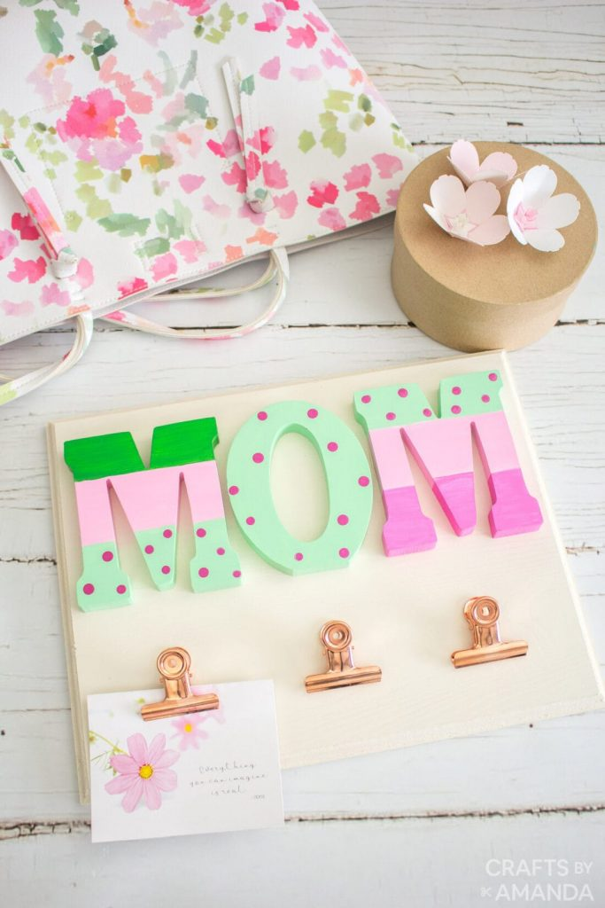 Several DIY Mother's Day Gift Ideas for the special woman in your life. Most don't use many materials to make a unique present for mom or grandma.