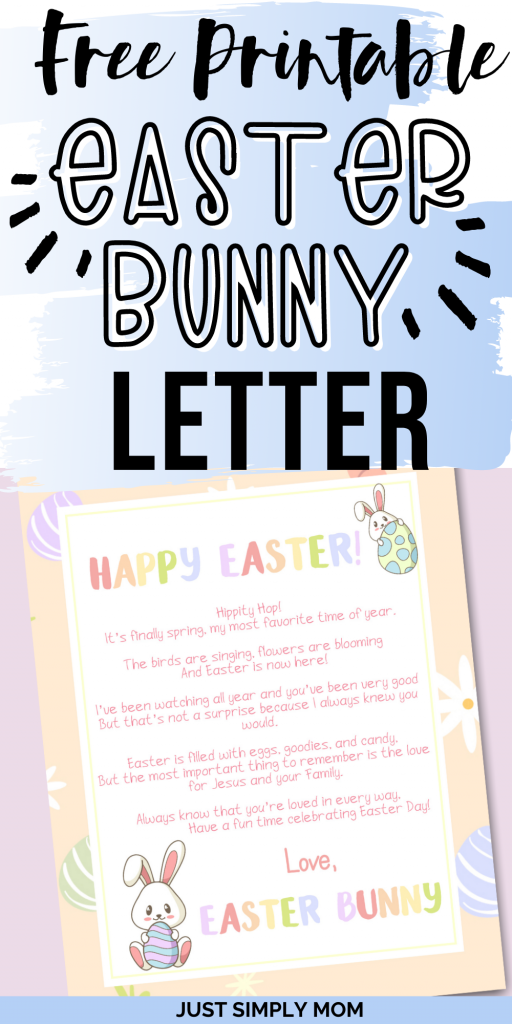 Use this free printable Easter bunny letter before or on Easter for your child to really believe that the Easter bunny has come to visit.