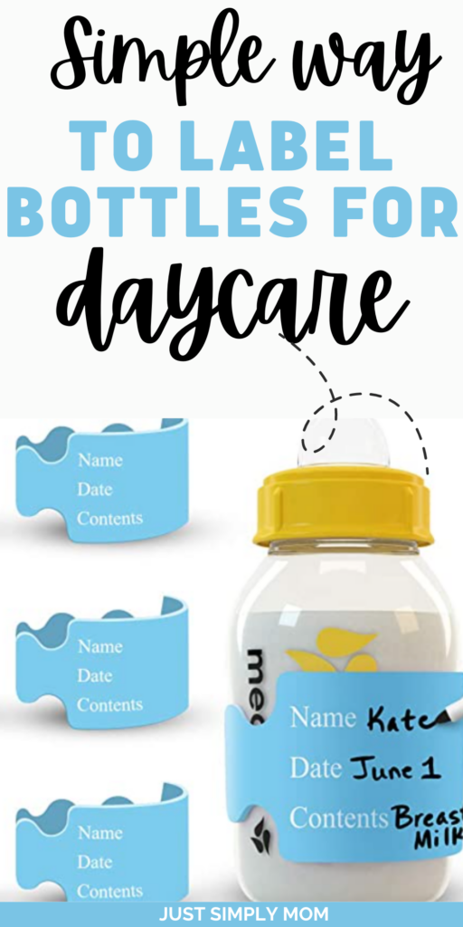 Getting ready to send your baby to daycare? You may be wondering about effective labeling of bottles for daycare- read on for great tips!