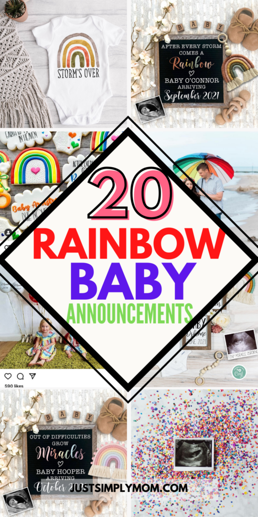 rainbow pregnancy announcements for your miracle rainbow baby