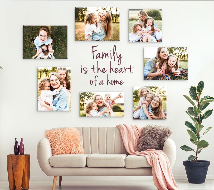 If you want to learn how to make a gallery wall with family photos, here are tips for choosing a space, designing a layout, & picking photos