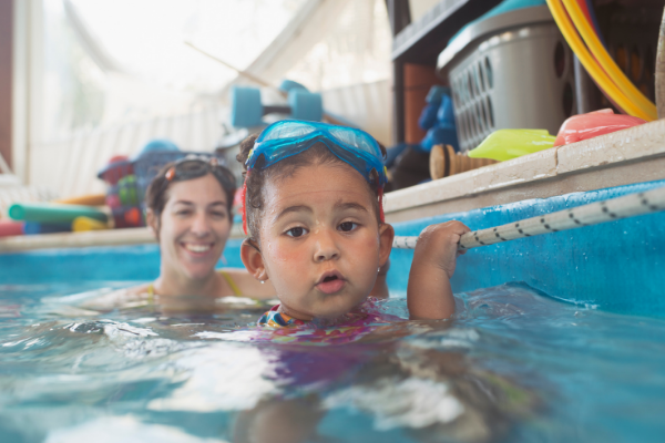 Teaching your toddler how to swim, the risk of drowning significantly decreases. Here are some safety tips when you're teaching a 2 year old how to swim.